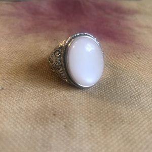 Large pink stone ring